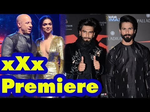 Vin Diesel, Deepika Padukone, Ranveer Singh, Shahid Kapoor at xXx Premiere | SpotboyE
