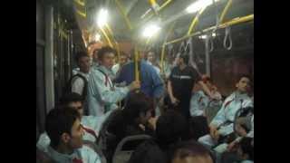 AFG Taekwondo Team Dance In Bus (Iran 2011 Tabriz)