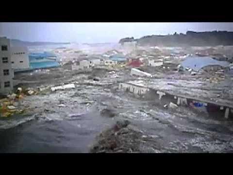 Japan's Tsunami-  A new vivid live video