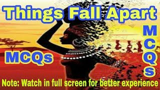 MCQs Things Fall Apart by Chinua Achebe in Hindi | for Ltgrade