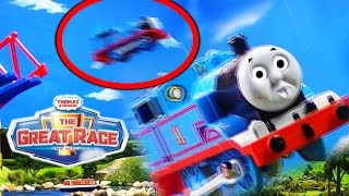 Thomas Bridge Jump | Thomas and Friends The Great Race Trackmaster Sky High Bridge Jump Remake