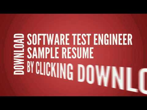 Software Test Engineer Resume CV Writing Tips Examples