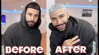 HOW I GOT WHITE HAIR IN 60 SECONDS!!!!