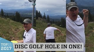 Incredible Disc Golf Hole In One   Top 25 of 2017