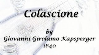 Colascione by Kapsberger ; Theorbo