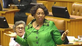 Comedy In Parliament - Angie Motshekga Pushed In A Corner