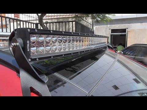 Barra Led curvo doble color 50 Hyundai Santa Fe 2014