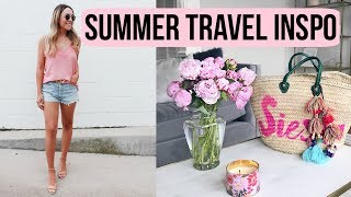 SUMMER TRAVEL ESSENTIALS! CLOTHES, SHOES, PACKING TIPS!