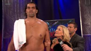 WWE Main Event - Natalya and Hornswoggle wish The Great Khali good luck: Jan 2. 2013
