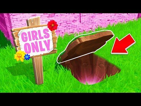 What s Inside this GIRLS ONLY Secret Room Fortnite