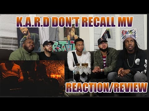 K.A.R.D - Don`t Recall M/V REACTION/REVIEW