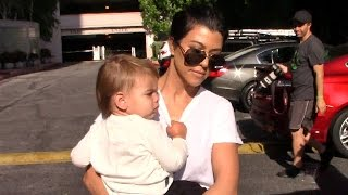 Kourtney Kardashian Looks Glum When Asked About Scott Disick