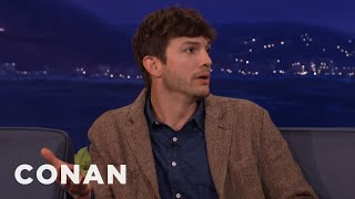Ashton Kutcher Wanted To Name His New Baby Hawkeye  - CONAN on TBS