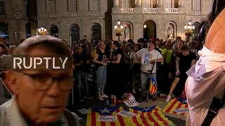 LIVE outside Generalitat Palace as Puigdemont makes statement
