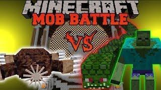 GIANT MOLE VS NAGA, MUTANT ZOMBIE, & BULL - Minecraft Mob Battles - Mods