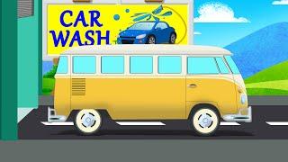 School Van | Car Wash Video for Kids & Toddlers