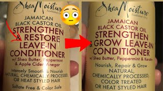 Update/ SHEA MOISTURE SOLD COMPANY AND CHANGED INGREDIENTS