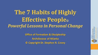 The 7 Habits of Highly Effective People—Powerful Lessons in Personal Change