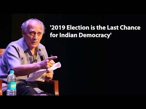 2019 Election Is the Last Chance for Indian Democracy Arun Shourie TheWireDialogues Karan Thapar