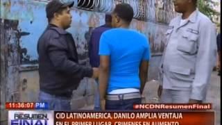 CID Latinoamérica Danilo amplía ventaja en el primer lugar, crímenes en aumento