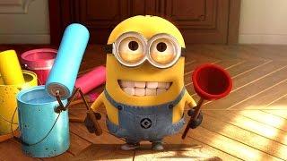 Minions Banana Baby Crib Funny Cartoon ~ Minions Finger Family Song Nursery Rhymes [4k]
