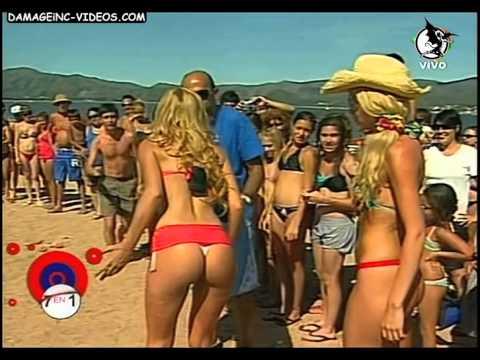 Floppy Tesouro Dallys Ferreira y Sofía Macaggi en la playa