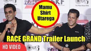 Mamu Shirt Utarega Kya ? | Bobby Deol Funny Moment With Salman Khan | Race 3 Trailer Launch