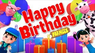 Happy Birthday Song | Videos For Children by Farmees