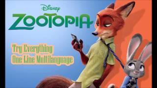 Zootopia - Try Everything (One-Line Multilanguage) Lyrics