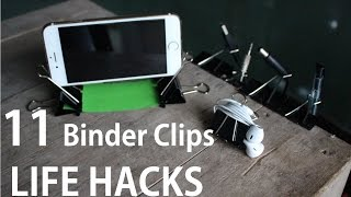 11 Binder Clips Life Hacks you can do it yourself [DIY]
