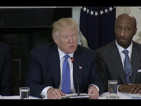 Trump Manufacturing Jobs Have To Come Back To US Full CEO Meeting Comments