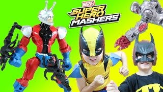 Marvel Super Hero Mashers Antman & New Toy Surprise Kids Shrink to help stop Ultron!