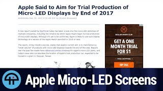 Micro-LED Displays Coming to Apple
