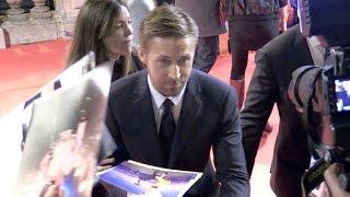 Golden Globe winner Ryan Gosling at the La La Land Premiere in Paris