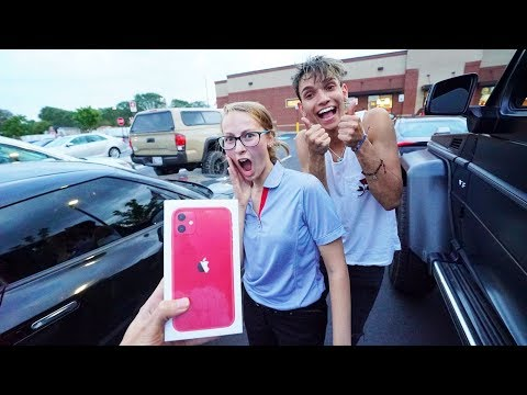 Breaking Peoples Phones Then Surprising Them With iPhone 11