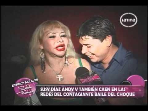 SUSY DIAZ SE CAE BAILANDO EL CHOQUE