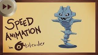 Animating Steelix in Blender 2.8 Alpha | BLENDER SPEED ANIMATION