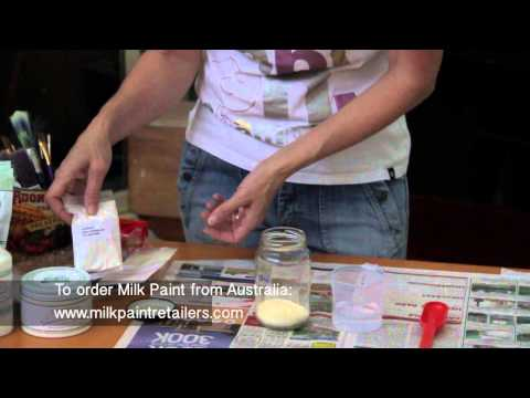 How to Mix MMS (Miss Mustard Seed) MILK PAINT in ONE easy DIRECTION.