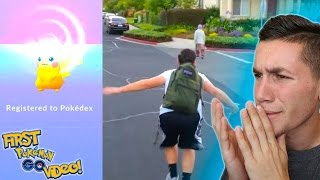 REACTING TO MY FIRST POKEMON GO VIDEO! 1,000 Videos on YouTube!