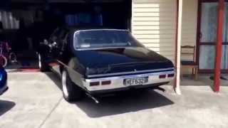 The Beast at idle. 1972 HQ Holden Premier 308 V8