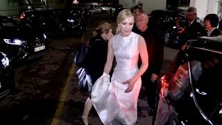 EXCLUSIVE : Fans singing Happy Birthday to Cate Blanchett at the back of the Palais in Cannes
