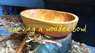 Carving a wooden bowl. The full video.