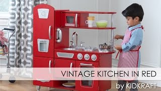 Children's Red Vintage Play Kitchen for Boys and Girls - Toy Review