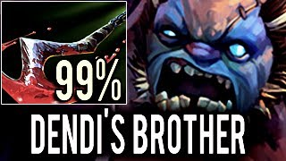 This is Dendi`s Brother? [Pudge] 99% Incredible Hook Dota 2