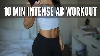 10 Min Intense Ab Workout: Flat Stomach Exercises