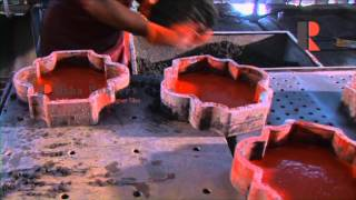 how to make concrete tiles / interlock tiles by usha rubber molds