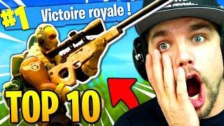 TOP 10 DES PLUS BELLES ACTIONS de FORTNITE: Battle Royale !!