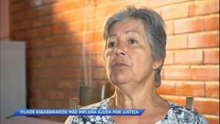 Mãe perde dois filhos assassinados e implora por justiça