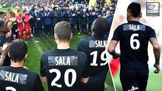 Nantes Players Mourn The Death Of Emiliano Sala Wearing Black Kits