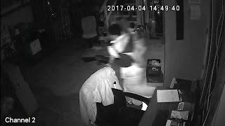 Surveillance video of burglars stealing guns from pawn shop in Tarrant, Alabama